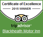 Certificate of Excellence 2015 Winner - tripadvisor - Blackheath Motor Inn