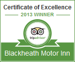 Certificate of Excellence - Tripadvisor - 2013 Winner